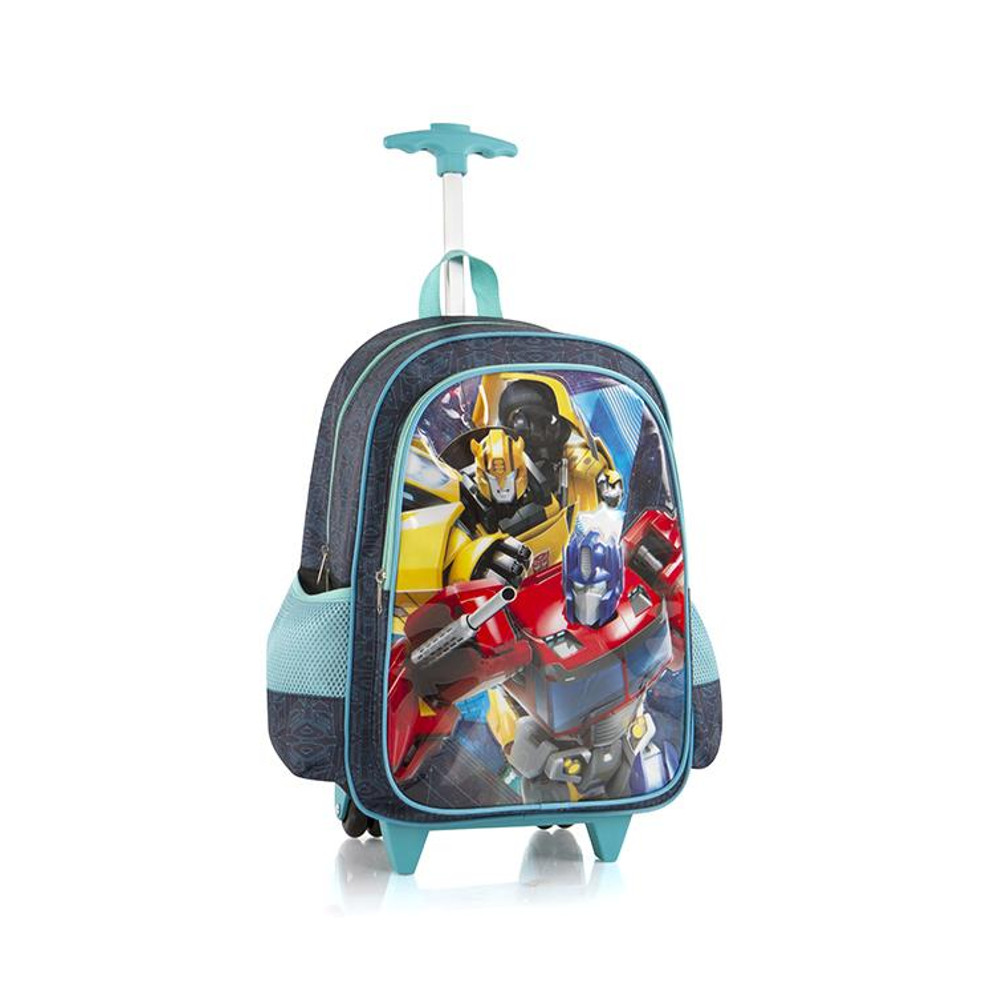 Hasbro Core 18 Inch School Bag Rolling Backpack with Shoulder Strap for Kids Transformers by