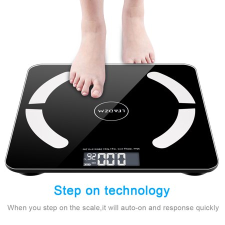 Zimtown Bluetooth Scales Digital Weight and Body Fat Scale - Body Composition Analyzer with Cell Phone APP- Wireless Digital Bathroom Smart BMI Scale,397 (Best Body Measurement App)