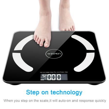 Zimtown Bluetooth Scales Digital Weight and Body Fat Scale - Body Composition Analyzer with Cell Phone APP- Wireless Digital Bathroom Smart BMI Scale,397 (Best Wifi Analyzer App)
