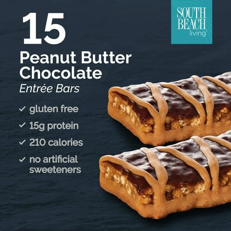 South Beach Diet Bars (South Beach Diet Gluten-free Peanut Butter Bar Entree Bars, 1.8 Oz, 15)