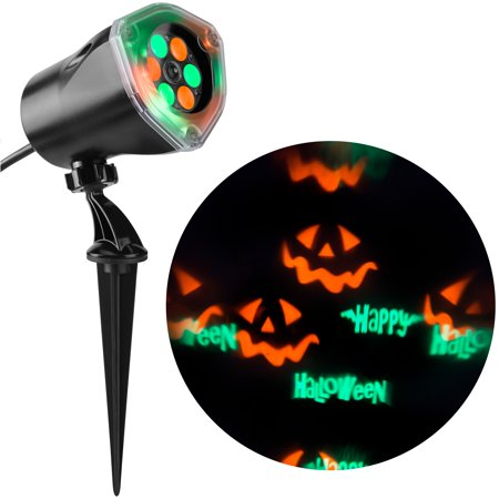 Halloween Projection Lights w Jack-o-lantern](Outside Halloween Lights)