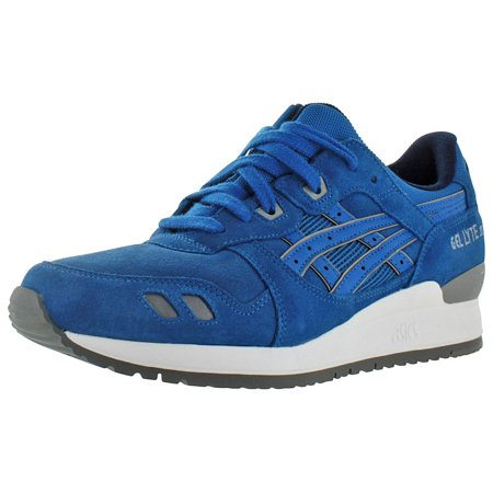 288e5e138aca ASICS - asics men s gel-lyte iii black   soft grey ankle-high leather  running shoe - 9.5m - Walmart.com