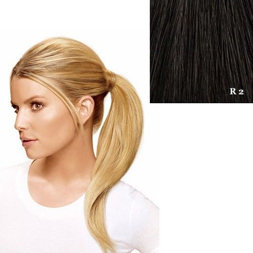"Hairdo 18"" Wrap Around Pony by Jessica Simpson Ken Paves Extensions R2 (Ebony)"
