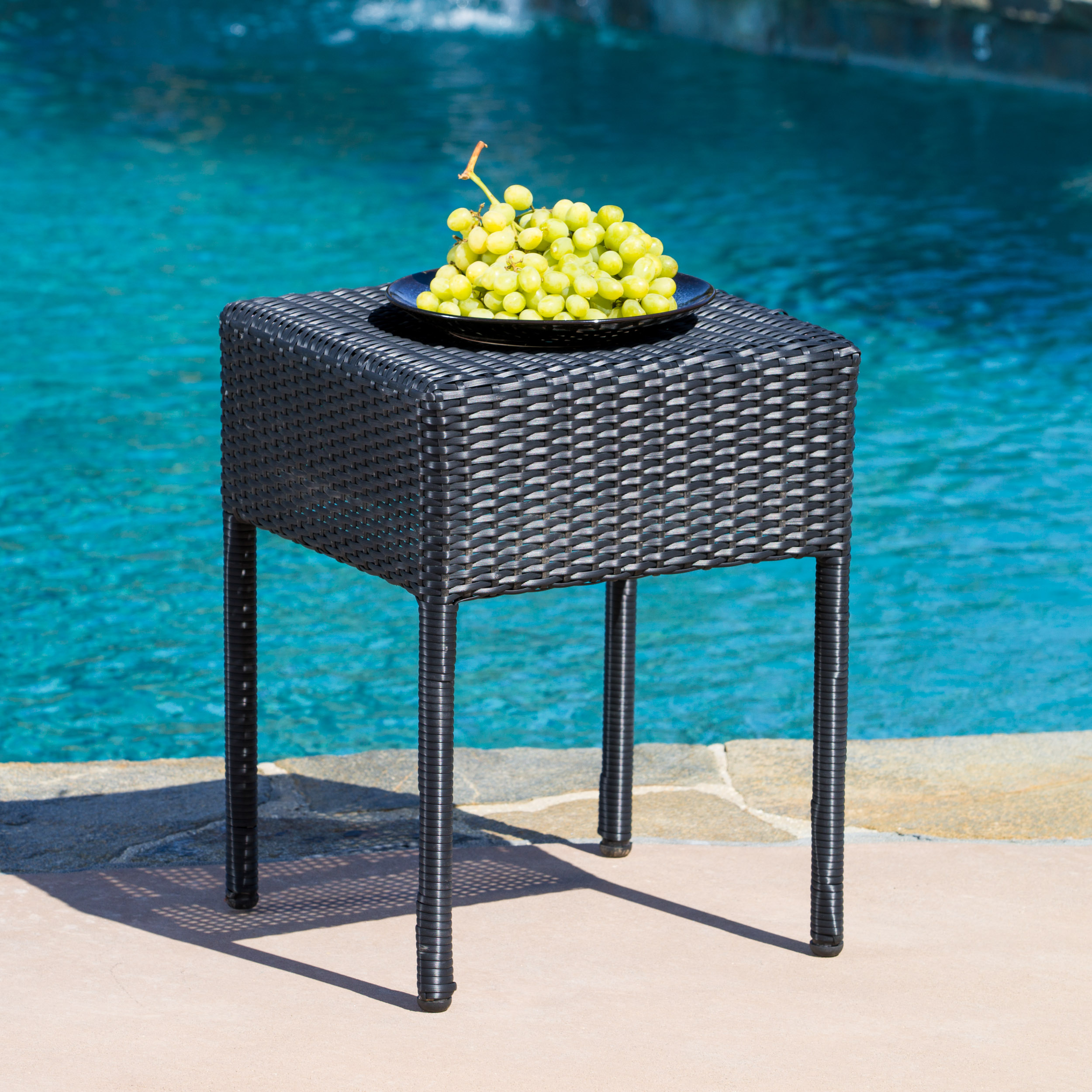 Abigail Wicker Outdoor Accent Table