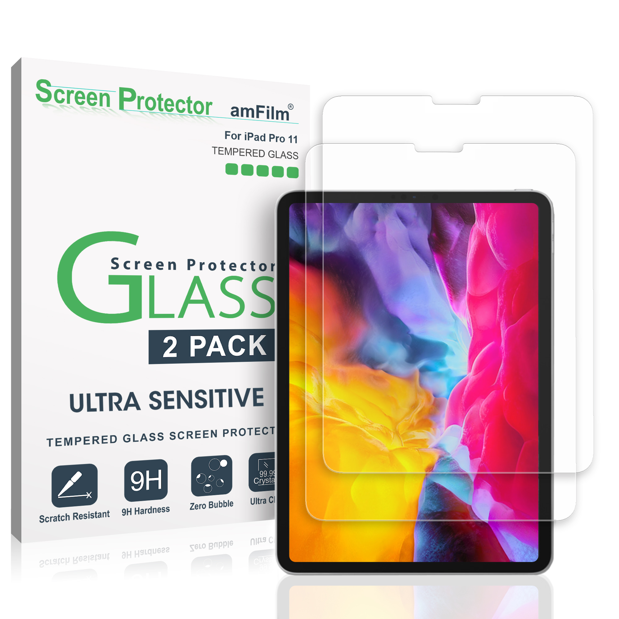 11 inches 2018 Anti Scratch 9H Hardness Tempered Glass Protector for iPad PRO
