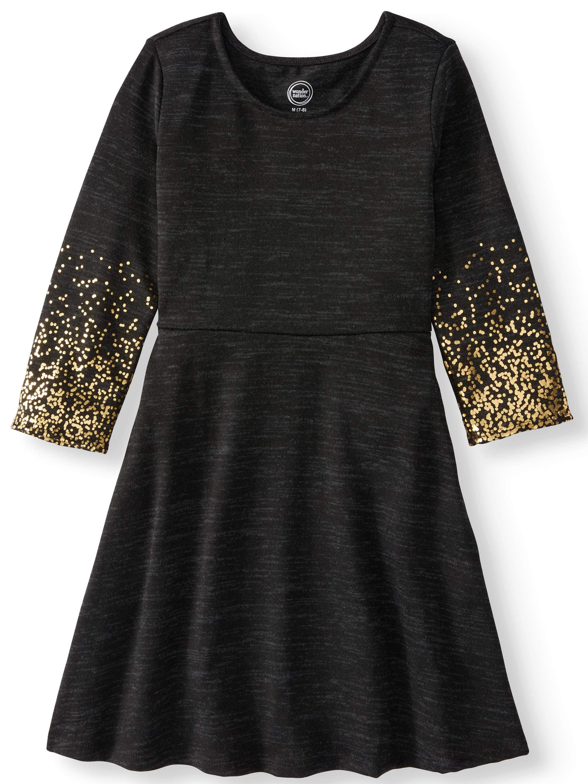 Ombre Long Sleeve Sweater Knit Dress (Little Girls and Big Girls)