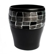 bed bath n more Classic Black and Silver Tile Patchwork Bath Accessory Collection