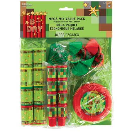 Mega Mix TNT Minecraft Party Favors, 48 pcs](Minecraft Cake Supplies)