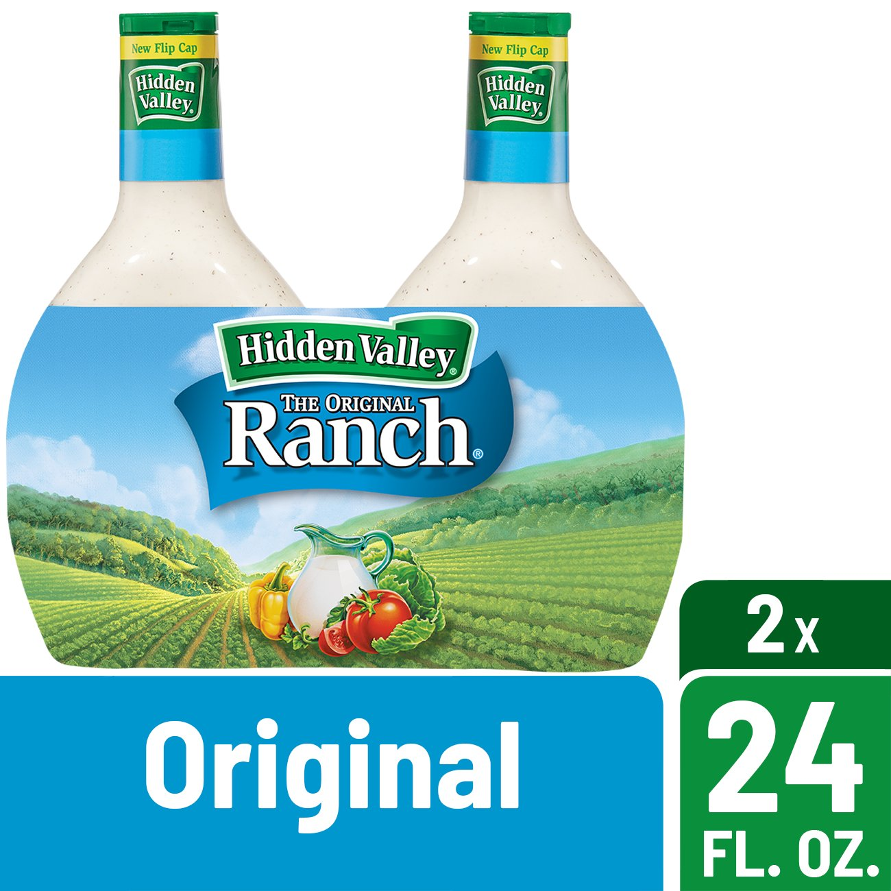 Hidden Valley Original Ranch Salad Dressing & Topping, Gluten Free - 24 oz Bottle - 2 Pack