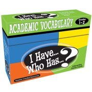 Teacher Created Resources I Have, Who Has Academic Vocabulary Game, Grade 1-2