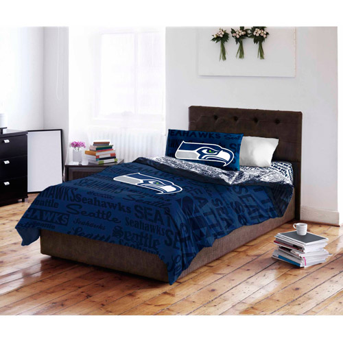 nfl seattle seahawks bed in a bag complete bedding set - walmart
