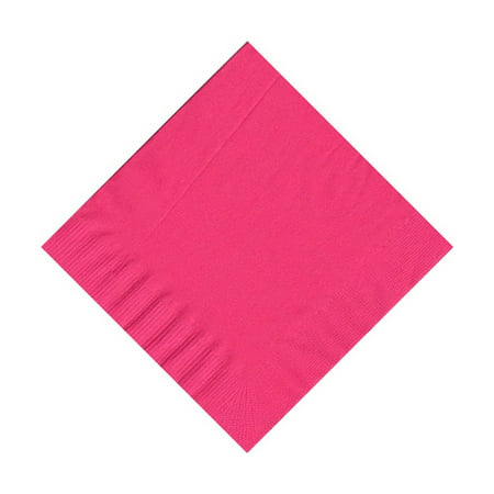 50 Plain Solid Colors Beverage Cocktail Napkins Paper - Hot Pink