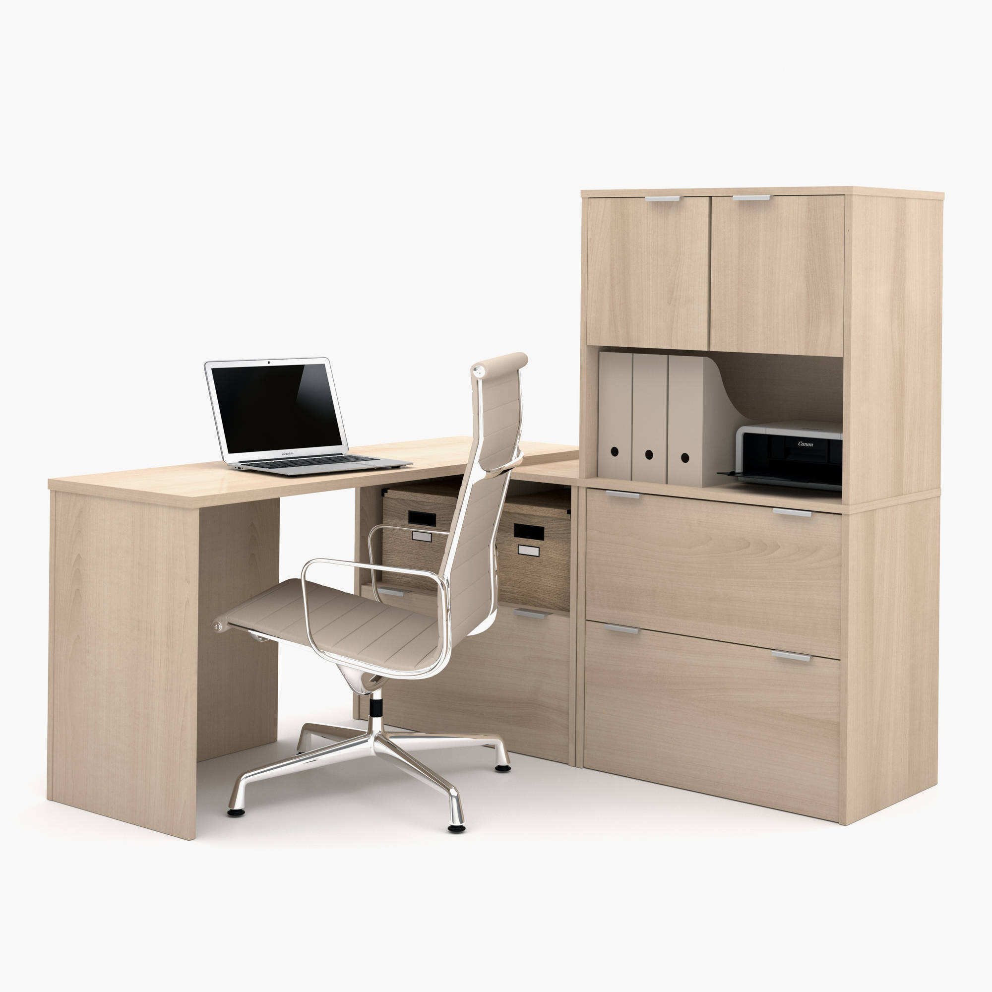 Bestar i3 by Bestar L-Shaped Desk, Multiple Colors
