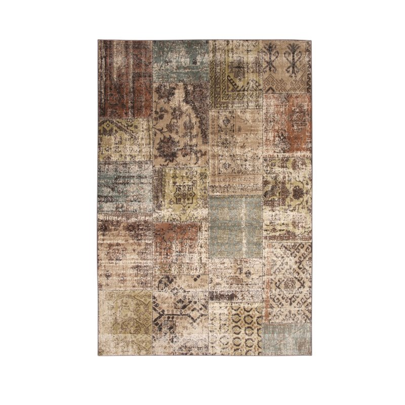 Abacasa Sonoma Mendota Beige - Brown - Green - Lt. Blue Area Rug