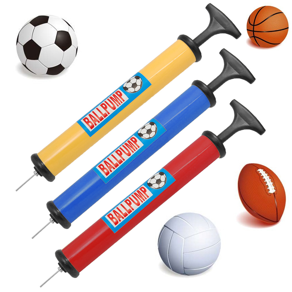 48 Lot Ball Pump Hand Air Inflator W/ Needle Football Volleyball Sports Portable