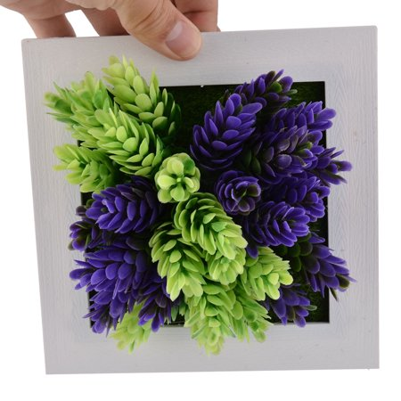 Home Party Plastic Flower Shaped Artificial Plant Decoration Frame 15cm x 15cm - image 1 of 4