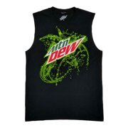 Mountain Dew Mens Black Splash Logo Tank Top Muscle Shirt Sleeveless Shirt