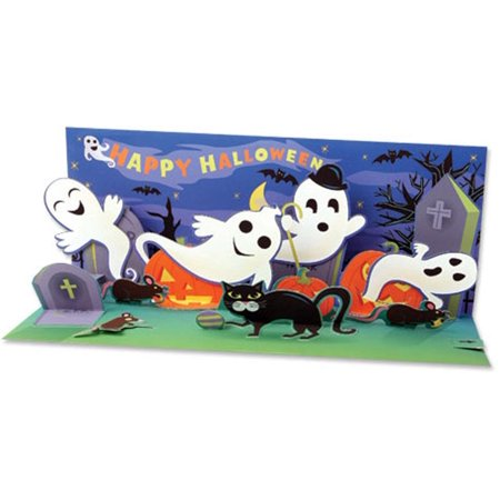 Up With Paper Happy Haunters Panoramic Pop-Up Halloween - Happy Halloween Card