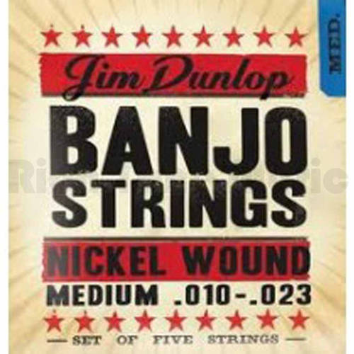 Dunlop DJN1023 Banjo Nickel String Medium, .010-.023, Set of 5