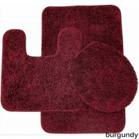 bed bath n more Florence 3 Piece Bathroom Rug and Toilet Seat Cover Set- Assorted Colors by Overstock