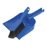 Dust Pan and Brush Set,Plastic,Blue QUICKIE 402ZQK by QUICKIE MANUFACTURING