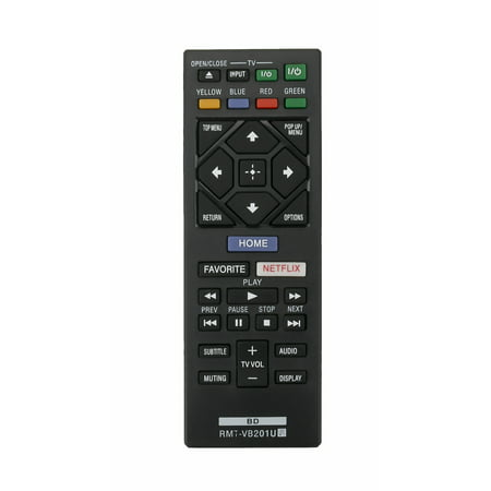 New RMT-VB201U Replace Remote Control fit for Sony BDP-S3700 BDP-BX370 BDP-S1700 Blu-ray Player ()