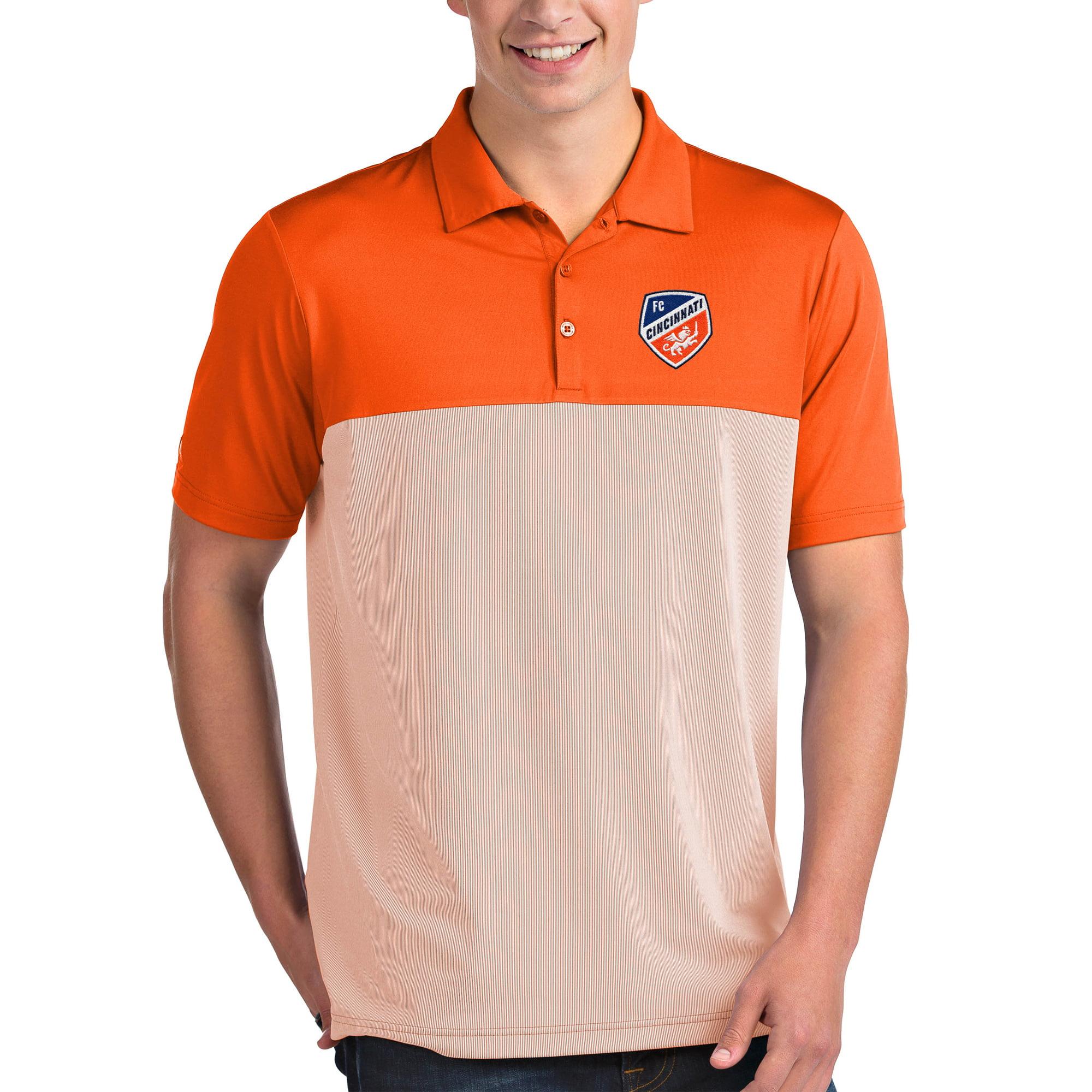 FC Cincinnati Antigua Venture Polo - Orange/White - L