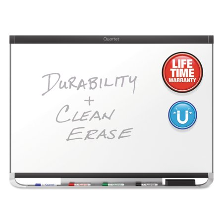 Porcelain Magnetic Whiteboard (Quartet Prestige 2 DuraMax Magnetic Porcelain Whiteboard, 36 x 24, Graphite Frame)