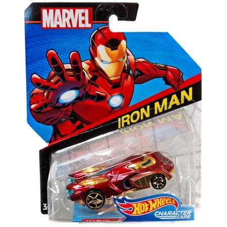 Hot Wheels Character Cars Iron Man Die-Cast Car