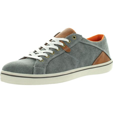 Marco Vitale Mens Danny Casual Denim Canvas Lace Up Sneakers Shoes
