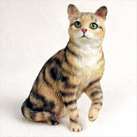 CF03 Brown Shorthaired Tabby Cat Standard Figurine