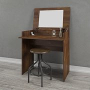 Nexera Tribeca Vanity Table with Flip Top, Ebony