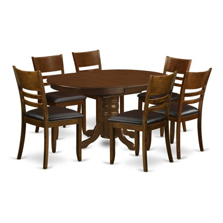 East West Furniture Kenley 7 Piece Mission Dining Table Set