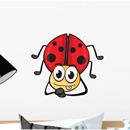 Ladybug Wall Decal by Wallmonkeys Peel and Stick Graphic (12 in W x 11 in H) WM247257 - Ladybug Wall Decals