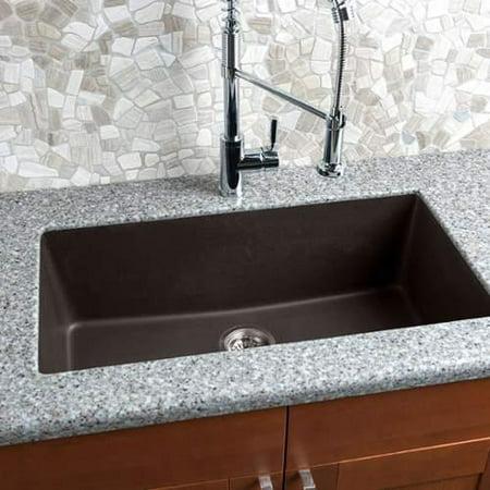 Miseno Mgr3318 Br 33 Undermount Single Basin Granite Kitchen Sink Mocha