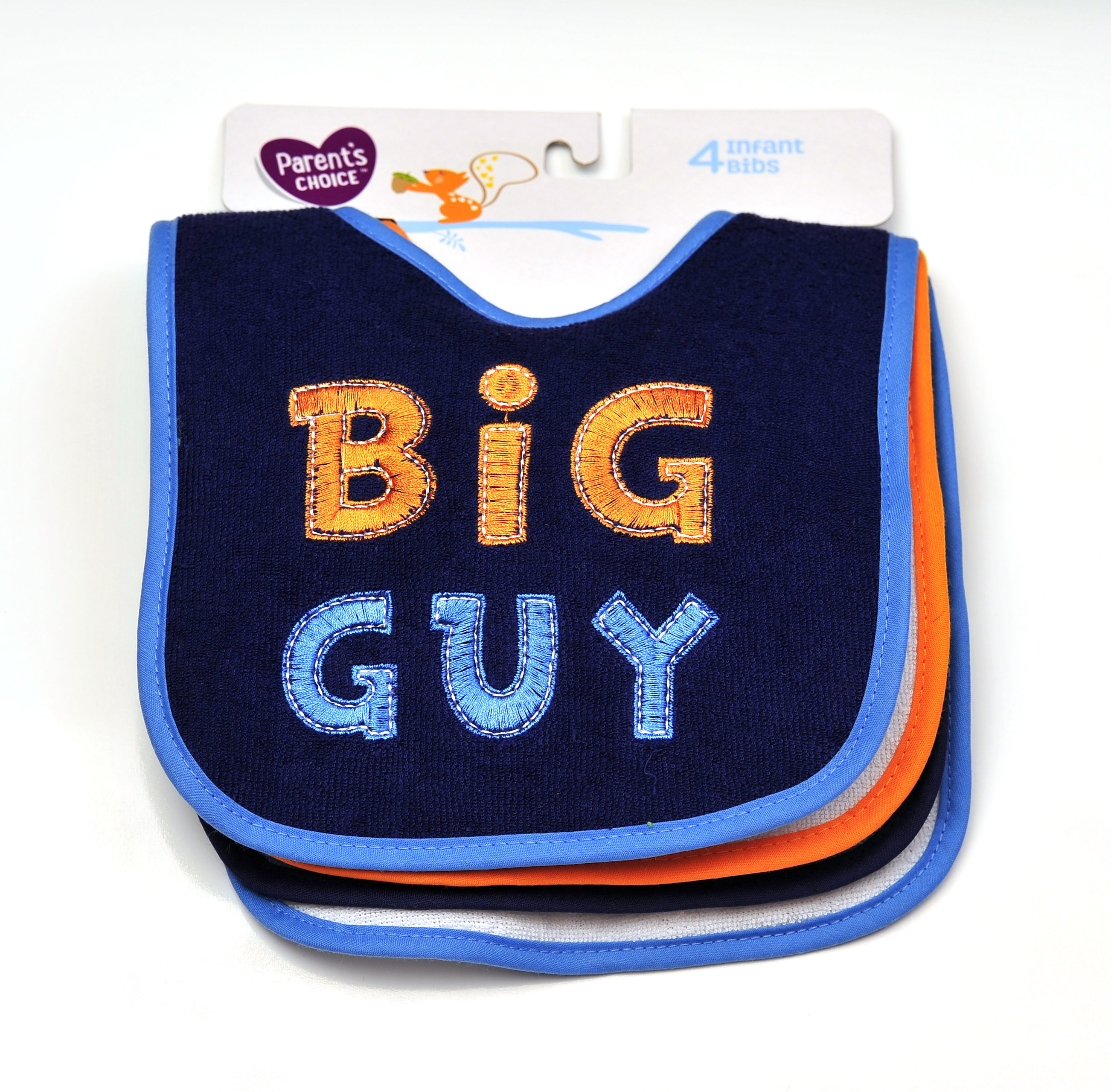 Parent's Choice Boys' 4 Pk. Boy Attitude Bibs