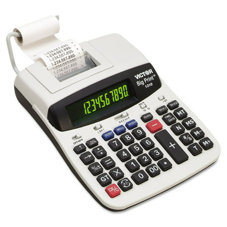 Victor 1310 Big Print Commercial Thermal Printing Calculator, Black Print, 6 Lines/Sec (Big Calculator Measures)