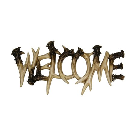 Rivers Edge Products Deer Antler Welcome Plaque
