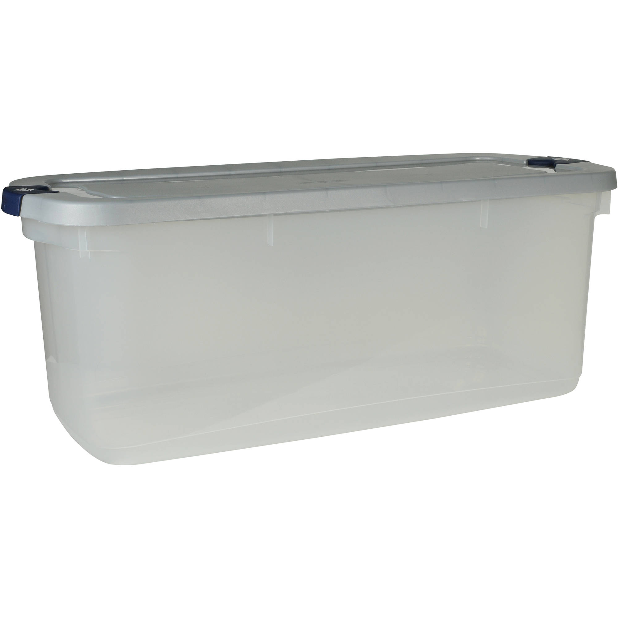 Rubbermaid Roughneck Clears Storage Tote Bins, 95 Qt (23.75 Gal), Clear  With Gray Lid, Set Of 4   Walmart.com