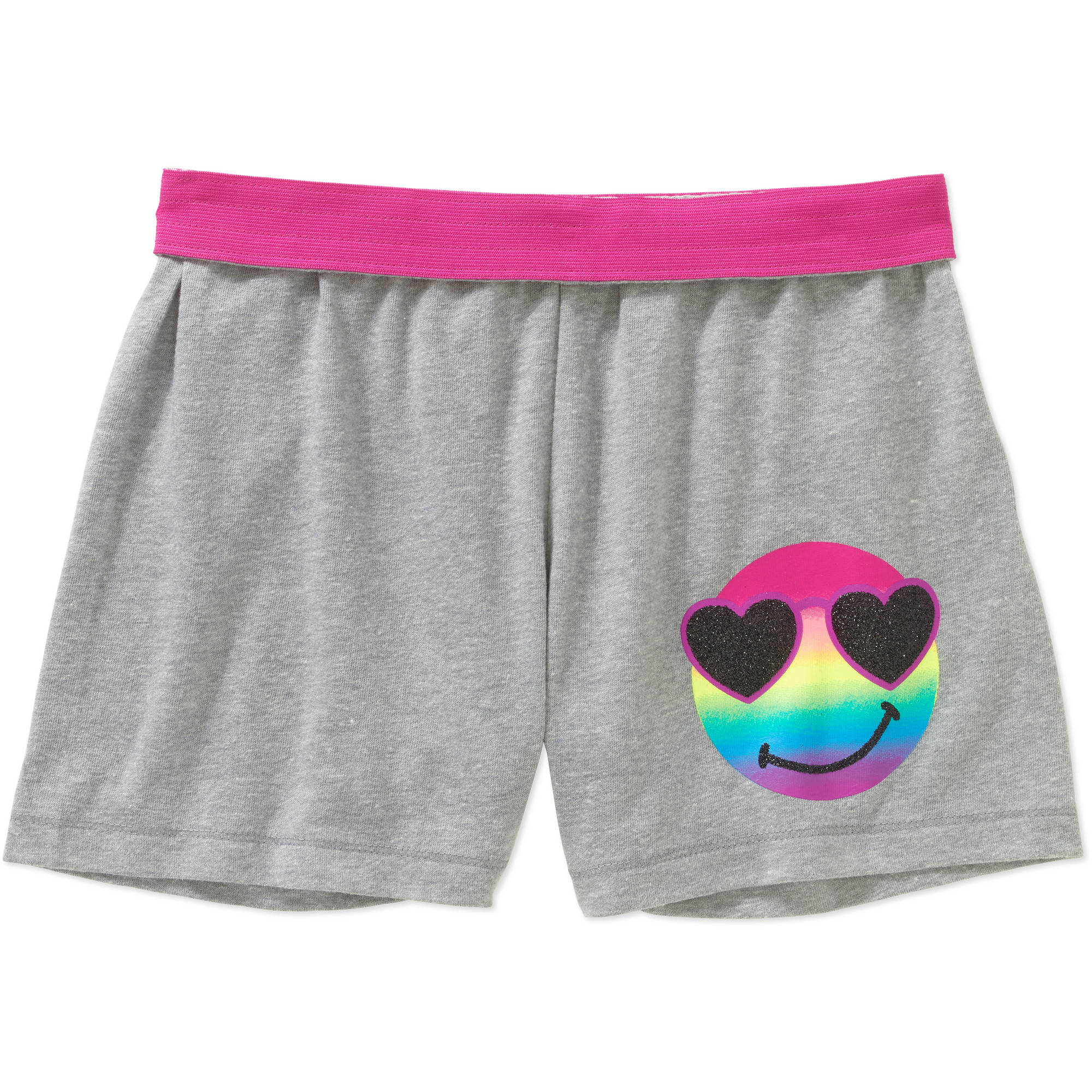 Girls' Faded Glory Graphic Shorts