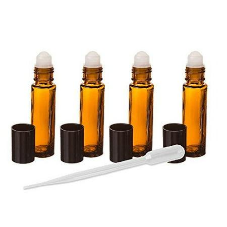 Amber Glass Essential Oil Rollerball Bottles  8Ml Aromatherapy Glass Roll On Bottles   Set Of 6  Amber  6 Pack Roller Ball Glass Bottles