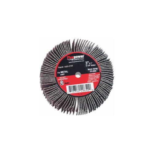 Firepower 1423-2152 Flap Wheel 3-inch x 1-inch x 1/4-inch - 80-Grit