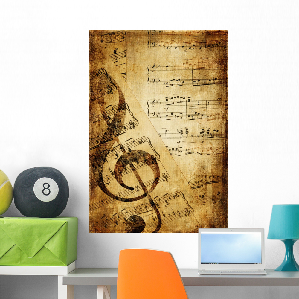 Vintage Musical Wall Mural by Wallmonkeys Peel and Stick Graphic (18 ...