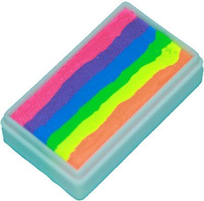 TAG Face Paint 1-Stroke Split Cake - Rainbow Neon (30g)](Cheap Face Paint)