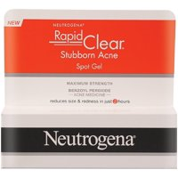 Neutrogena Rapid Clear Stubborn Acne Spot Gel 1 oz (Pack of 2)