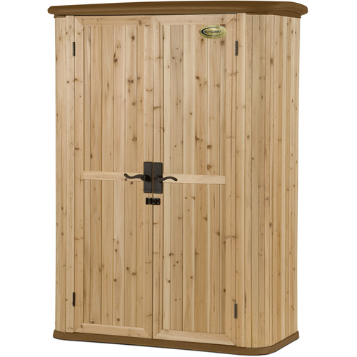 Suncast Hybrid 50 cu ft Shed, Cedar Wood