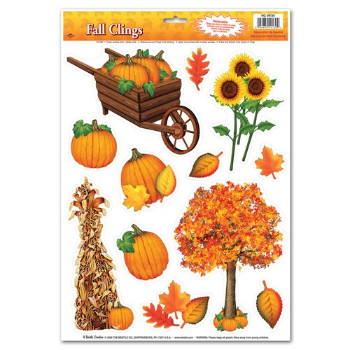 Beistle Fall Cling Set