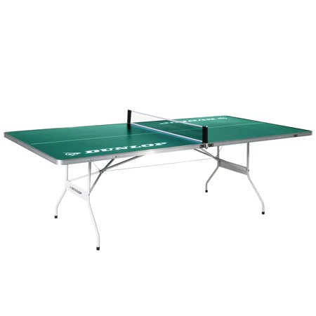 DUNLOP EZ-Fold Outdoor Table Tennis Table, 100% Pre-assembled, Portable, Ideal Size for