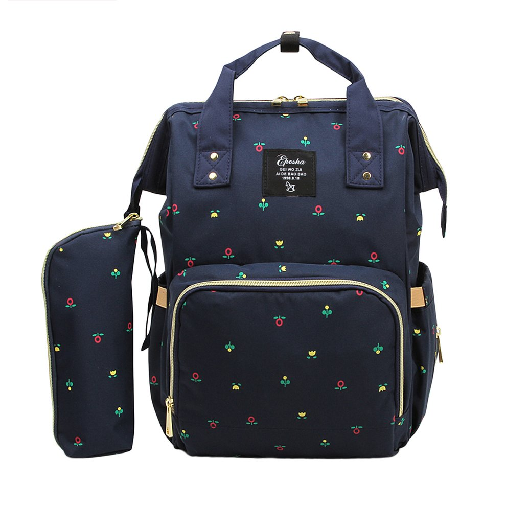 2PCS/SET Large Capacity Baby Care Multifunctional Mommy Backpack Fashionable Design Mommy Diaper Bag Nappy Bag