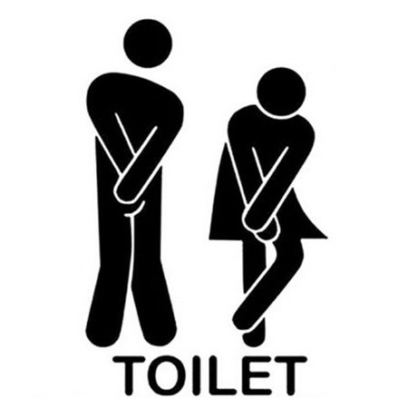 Wc Decor (Removable Cute Man Woman Washroom Toilet WC Sticker Family DIY)